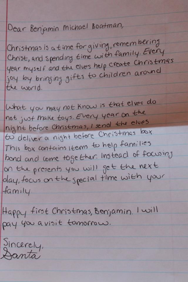 Night Before Christmas box letter