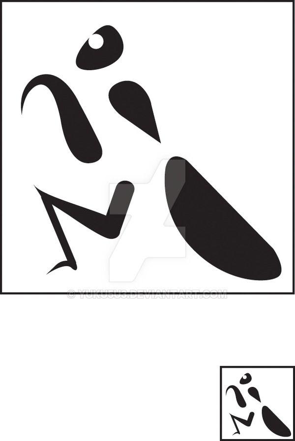 Praying Mantis Symbol by YUKU5U3