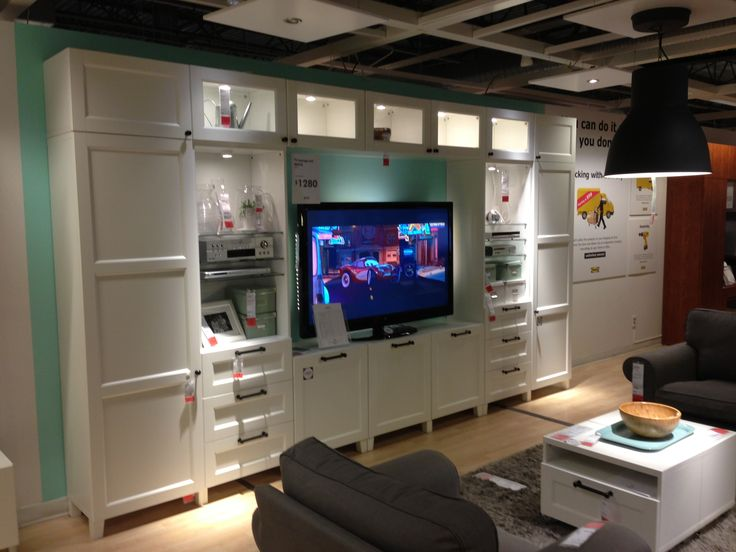 Besta Wall Unit In White Closet And Clothing Storage