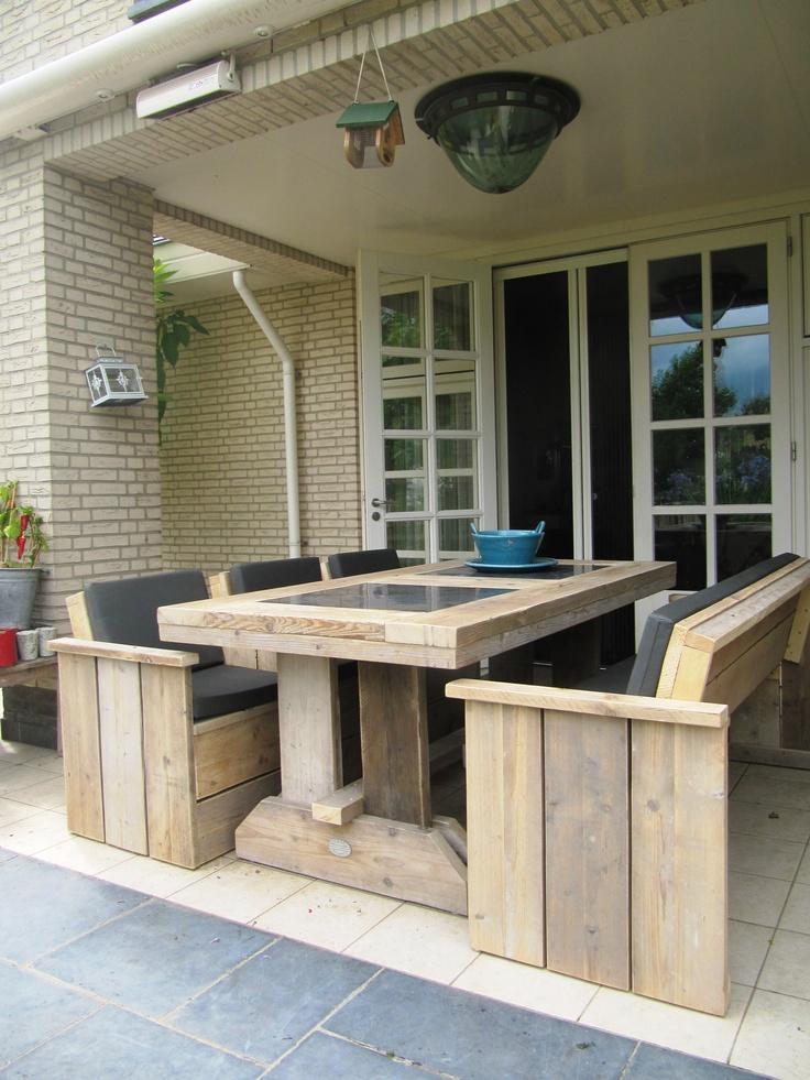 steigerhouten eettafel voor buiten:)