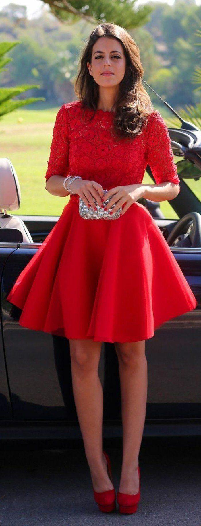 Rotes kleid welche schuhe