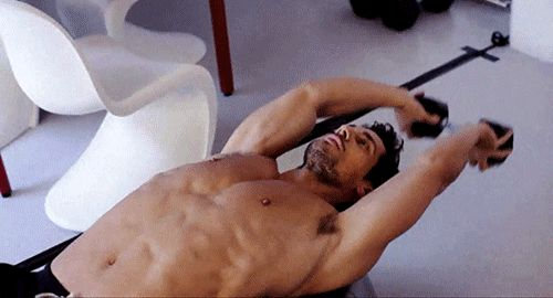Working out - David GAndy (gif)
