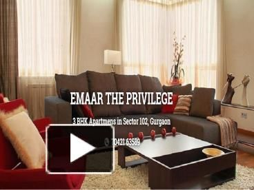 Emaar The Privilege returning with the new residential project in Sector 102 Gurgaon at Dwarka Expressway. This residence is at low rate with golden chance. See More Details Here:- https://emaartheprivilege.upcomingestate.com