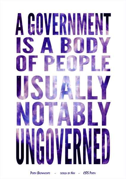 Firefly/Serenity Quote Poster Design: A Government Is A Body Of People (Book) Design by Nyx