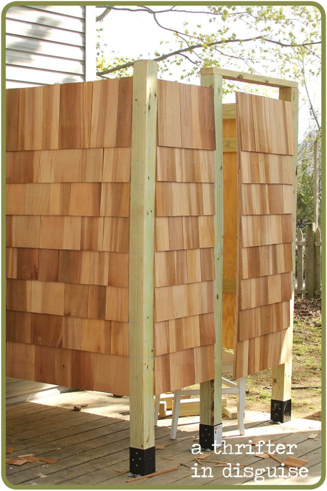 Diy outdoor shower house part 1 the o 39 jays showers and for Diy outdoor shower surfboard