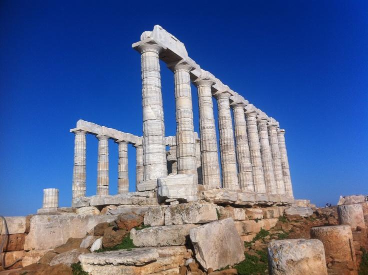 Templo de Poseidón, Cabo Sounion.  Es un monumento que se encuentra a 1 hora de Atenas
