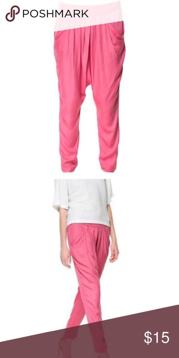 Zara Harlem Pants Pink loose fit Harlem pants! Zara Pants