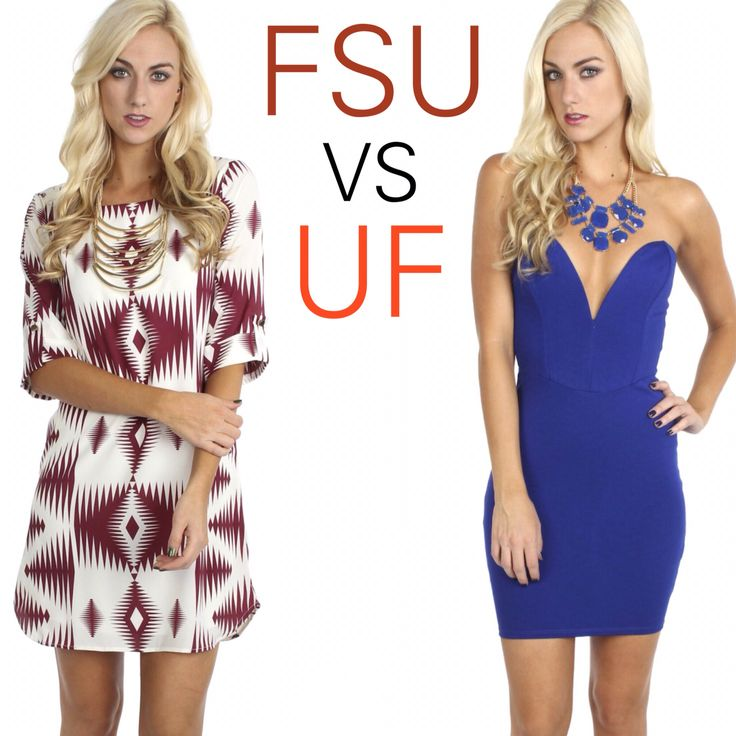 FSU VS UF?!? Comment below with who you're cheering on!  get fabulous #sophieandtrey game day looks all 20% OFF today online with coupon code: SMALLBIZ20 at www.sophieandtrey.com! #football #gameday #fsu #uf #vote