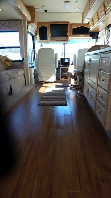 Luxury Vinyl Plank installed in a RV. Shop these kind of floors at our site by clicking the link! #flooring #decor #vinyl http://flooringmylife.com/vinyl-tile/vinyl-plank/