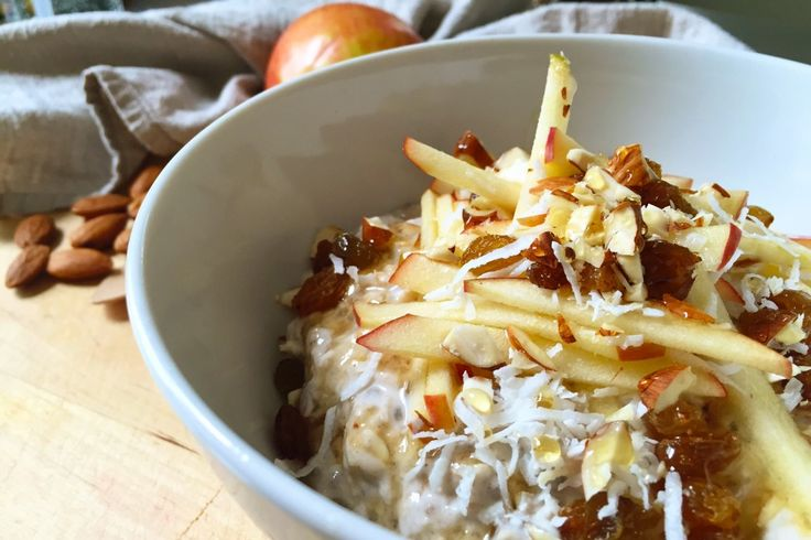 Coconut & Almond Milk Bircher | Greener Resolutions | vegan, dairy-free, gluten-free