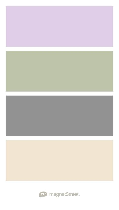 Lavender, Sage, Classic Gray, and Champagne Wedding Color Palette - custom color palette created at MagnetStreet.com