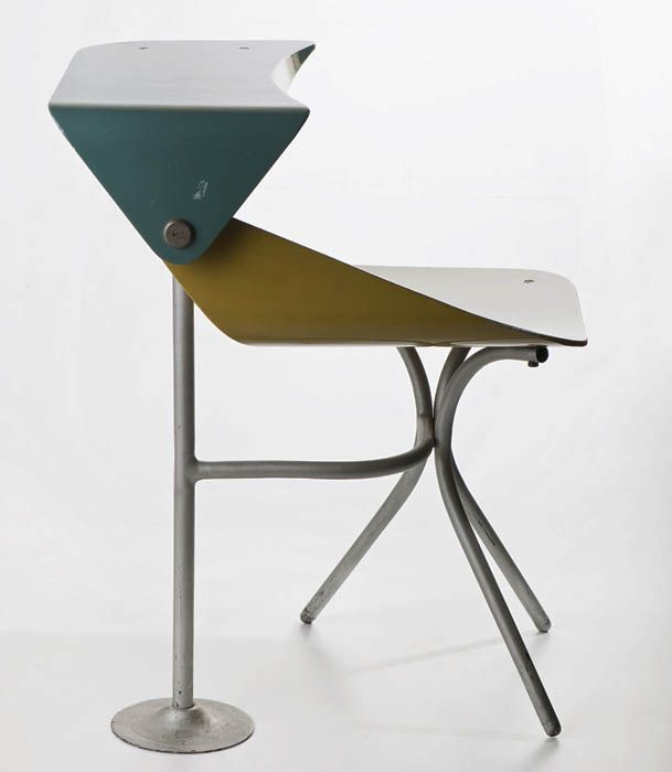 Maria Chomentowska, chair with desktop, produced by the Furniture Wing of the Industrial Design Institute in Warsaw, 1965, collections of th...