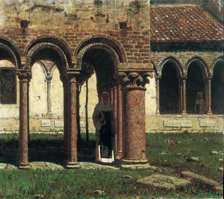 VINCENZO CABIANCA, Il portico di San Zeno a Verona, 1867, olio su tavola, cm 38x40, Genova, Accademia Ligustica di Belle Arti