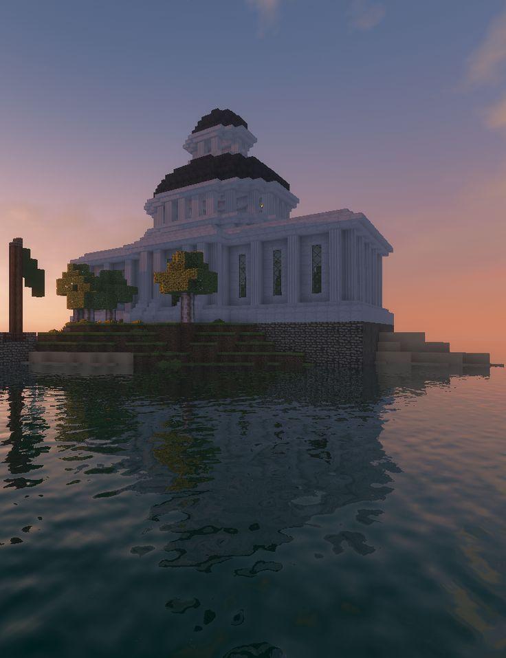 Minecraft Small Library On A Small Island Minecraft Ideeen