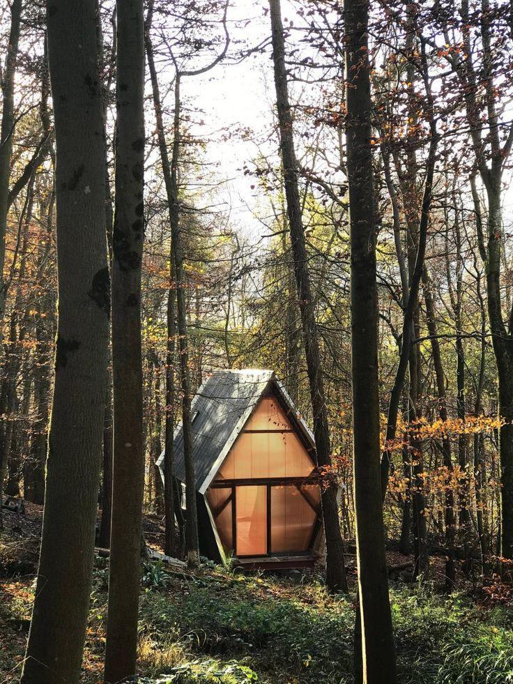 Cette tiny house originale de 40 m² na rien à envier aux autres maisons fabriquée à partir de matériaux récupérés et de bois local elle a tout dun