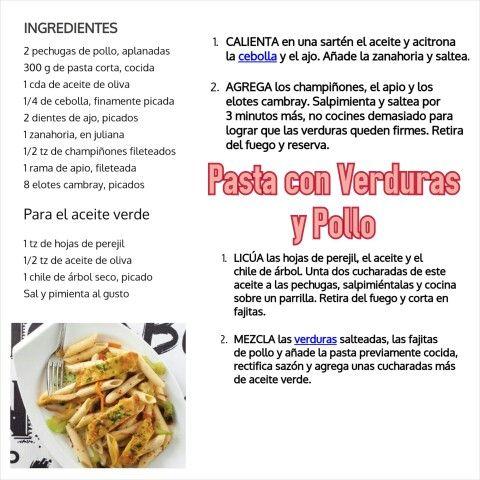 Pasta con Verdurad y Pollo