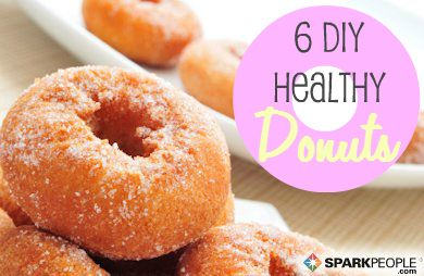 "6 D.I.Y. Healthy Donuts - I'm always leery of the ""healthy"" label on things that are inherently not healthy, but these all sound pretty tasty"