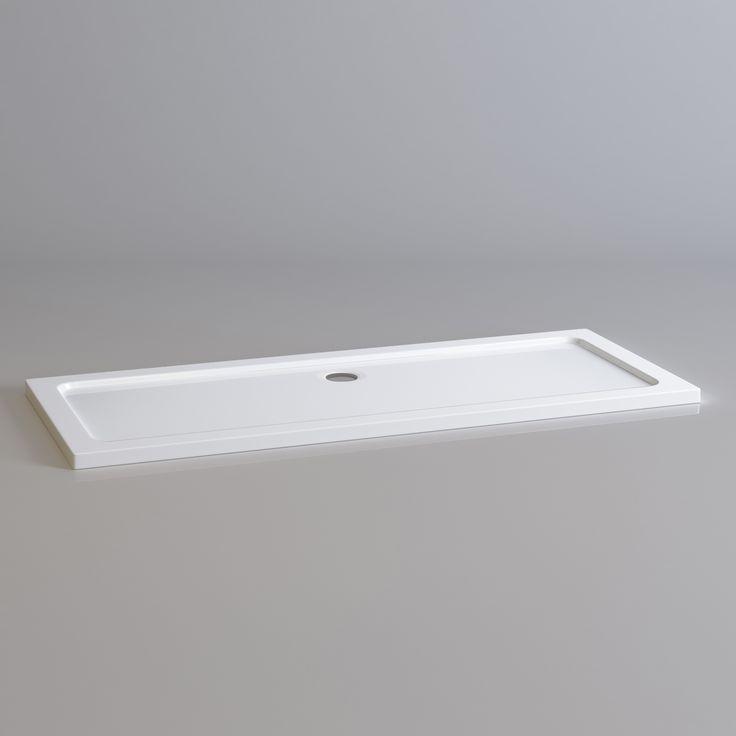 1700x700mm Rectangular Ultraslim Stone Shower Tray - Soak.com