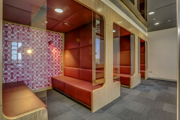 Booth seating @ HPIMR project by Burgtec WA