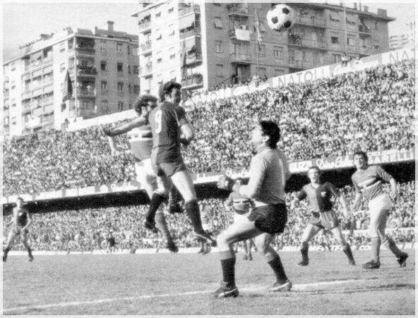 13 marzo 1977, genoa-sampdoria 2-1 il gol di Pruzzo.
