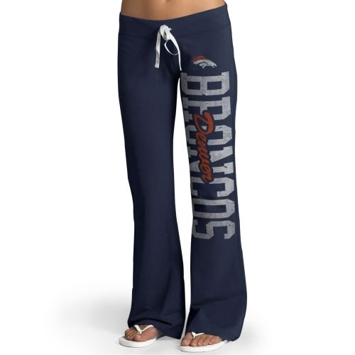 '47 Brand Denver Broncos Womens Navy Blue Pep Rally Pants