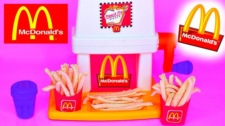 Traditional McDonalds Happy Meal Magic FRENCH FRY Maker Playset & Vintage McDonalds Food Toys Popin Cookin, ,