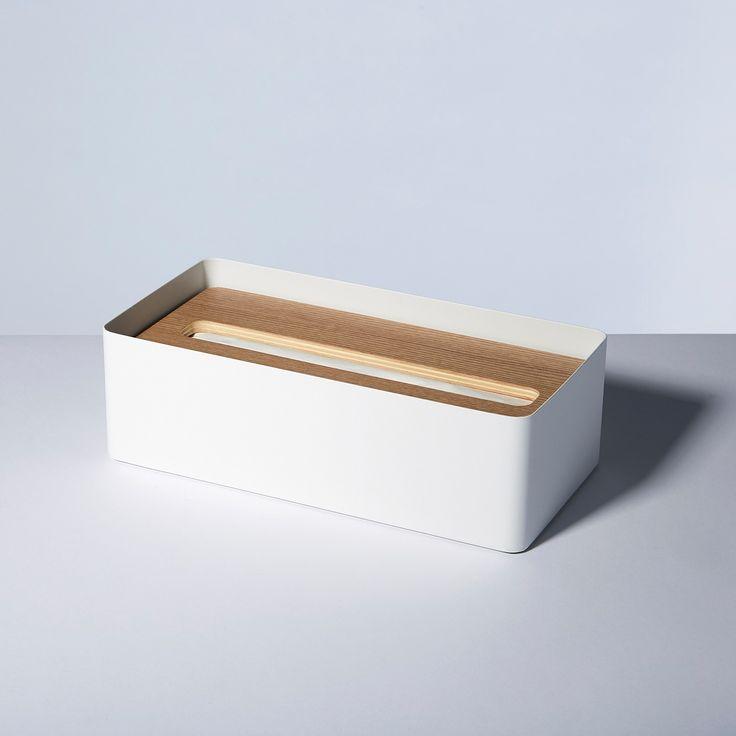 Rin White Tissue Box Cover
