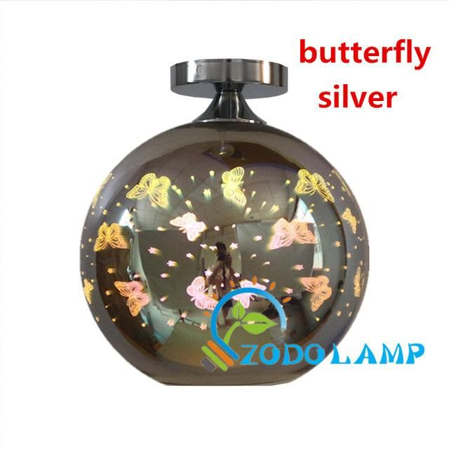 Modern Ceiling light LED lamp 3D colorful glass lamp shade simple ceiling lighting for living Bedroom bar shop light fixture