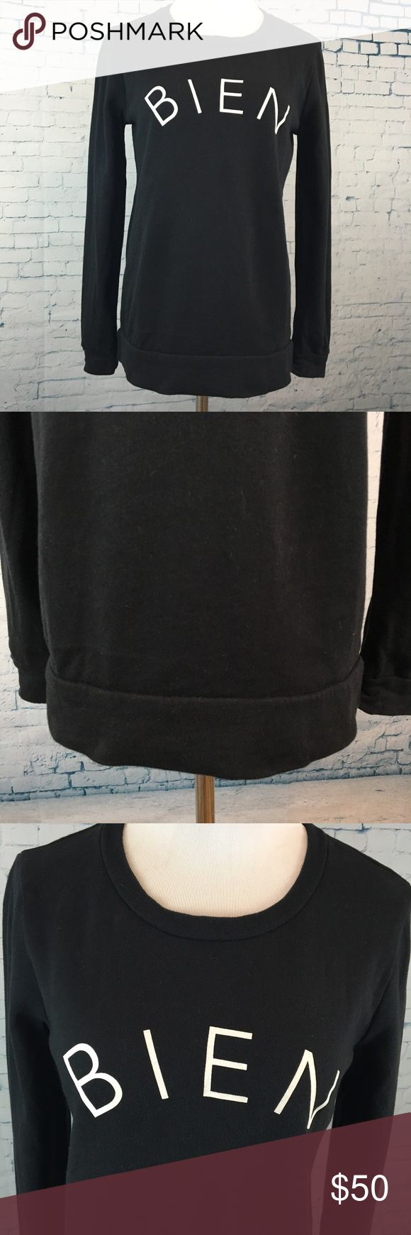 """Madewell Bien Fait Graphic Sweatshirt Means """"made well"""" in French toss it on with everything. Armpit to armpit 19"""", mid shoulder to hem 25"""". Cotton. Madewell Tops Sweatshirts & Hoodies"""