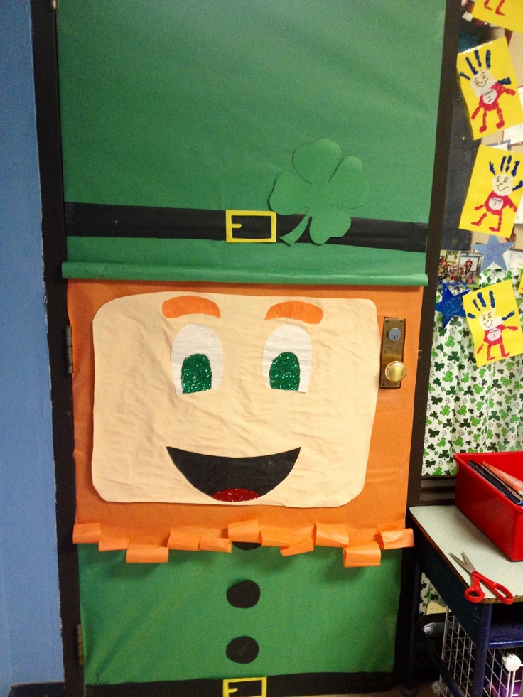 Classroom Door Decoration Ideas For March ~ Classroom door for march goodies pinterest