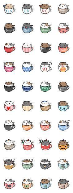 Cafe Nyan Cat #plannerstickers #catstickers #plannersupplies