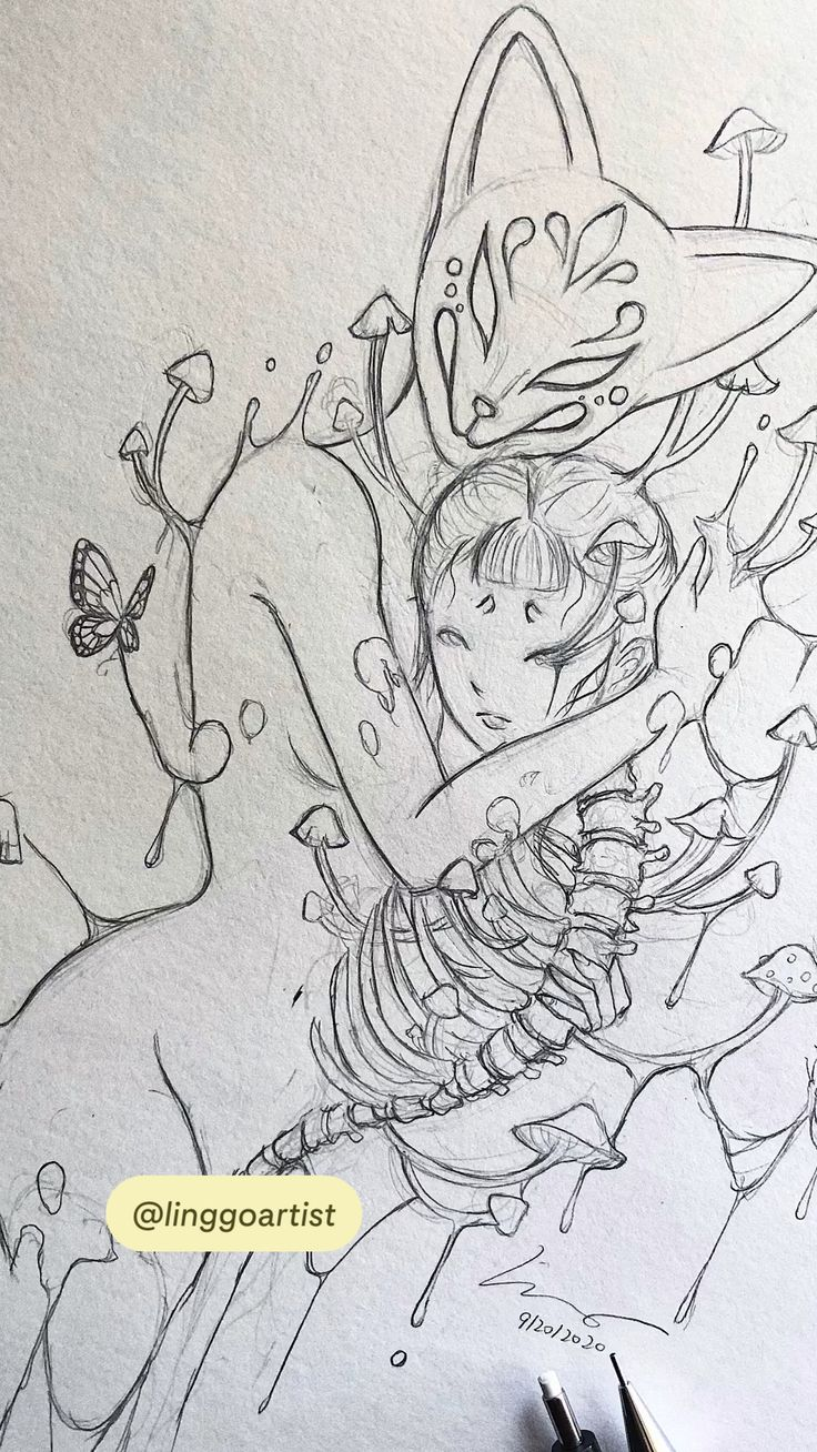 Witch Art, Hyperrealism, Drawing Reference Poses, Sketchbook Inspiration, Pop Surrealism, Butterfly Art, Doodle Drawings, Manga Drawing, Character Drawing