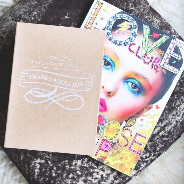 The Gift Label: Thanks a million ❤️ #thanksamillion #loveclub #lilyrosedepp #gifts #notebook #thegiftlabel #tgl #Pinterest #Pinteresttips #SocialMedia