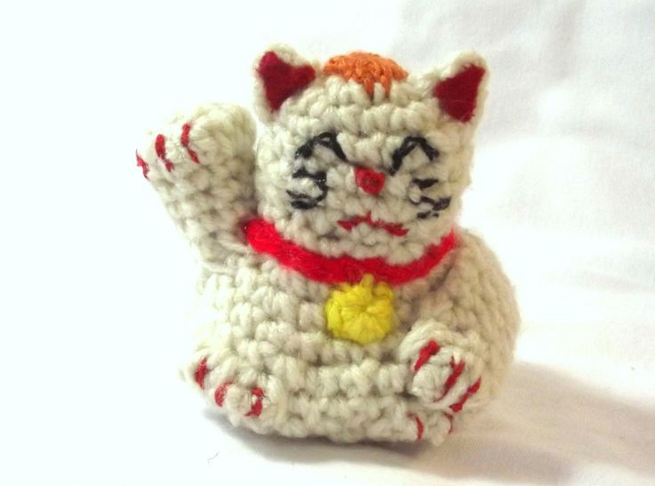 Fortune Cat Plushie - Good Luck Kitten - Anime Cat - Pop Culture Plushie - Anime Plushie - Cat Doll - Cat Plushie - Asian Cat Toy by SewDarnComfy on Etsy