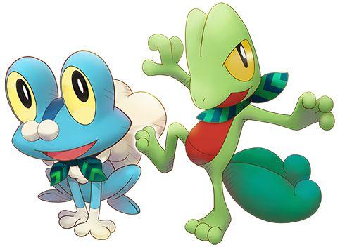 Froakie and Treeko