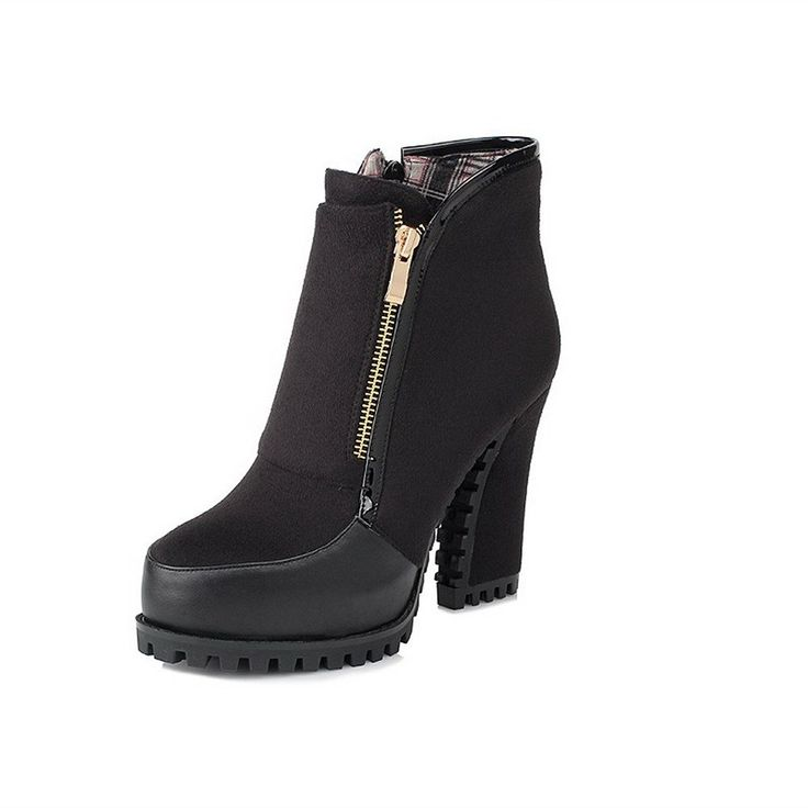 Fanala Snow Womens Winter Boots Thick High Heels Platform Cowboy Zipper  Boot Shoes 75 BM US Black >>> Check this awesome product by going to the  link at the ...