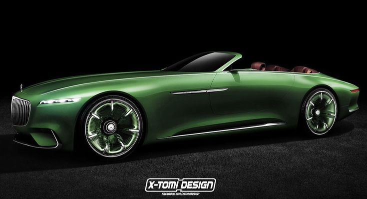 Stylish Mercedes-Maybach Vision 6 Concept Goes Topless
