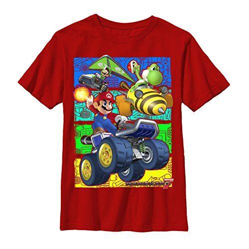 Nintendo Mario Kart 7 Race - Boys L Graphic T Shirt - Fifth Sun @ niftywarehouse.com #NiftyWarehouse #Geek #Gifts #Collectibles #Entertainment #Merch