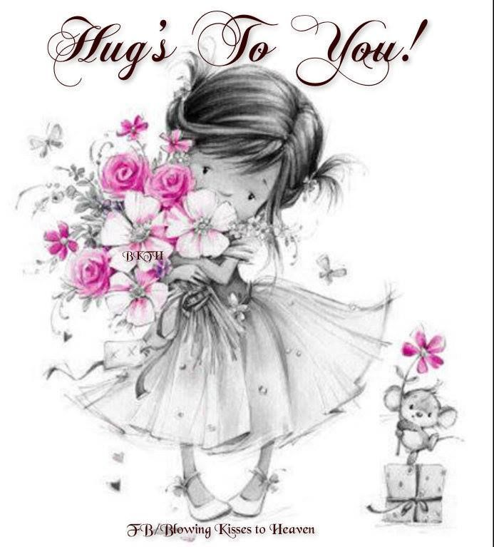 Image result for hugs to you girl with flowers