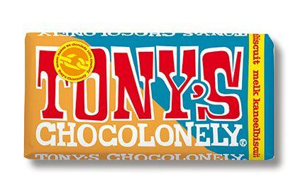 Tony's Chocolonely Melk Kaneelbiscuit Chocolade
