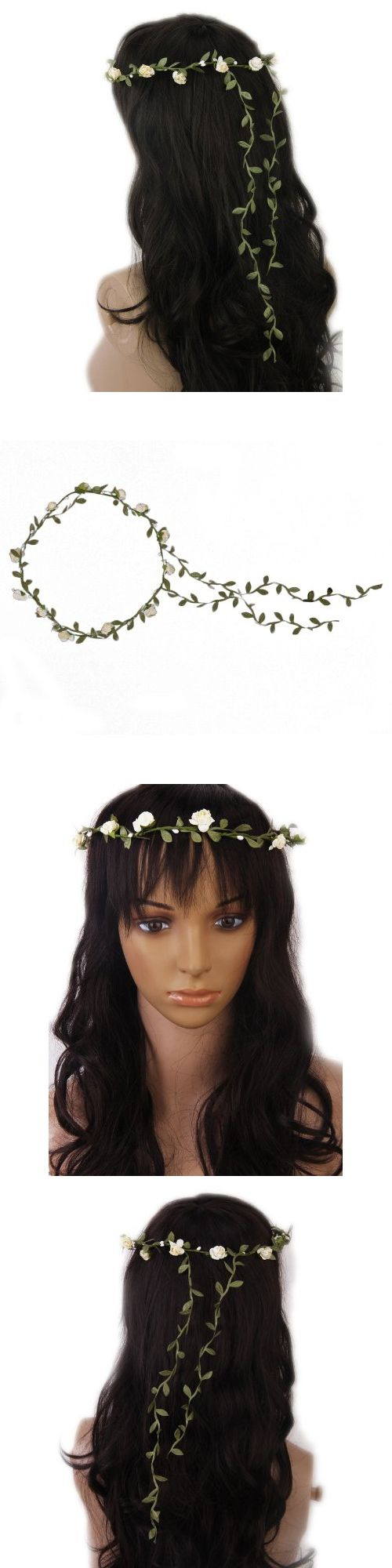 Flowers Branch Festival Wedding Garland Head Wreath Crown Floral Halo Headpiece Photography Tool Adult Size