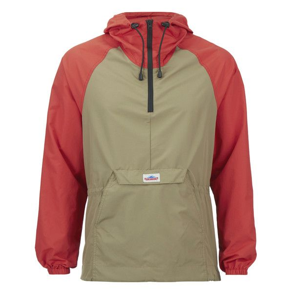 Penfield Men's Pac Jac Overhead Packable 2 Tone Jacket - Orange (11825 RSD) ❤ liked on Polyvore featuring men's fashion, men's clothing, men's outerwear, men's jackets, orange, mens jackets, mens nylon jacket, mens zip up jacket, mens outerwear and mens lightweight jacket