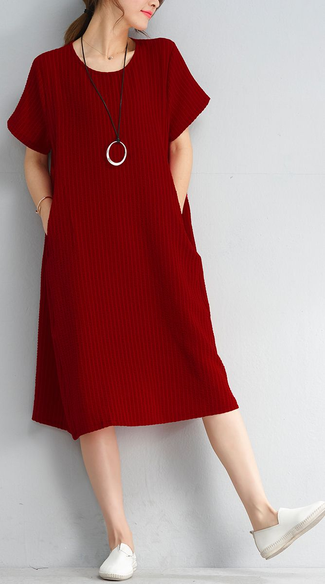 33f1ccbdd30 Red Shift Dress With Short Sleeves - Gomes Weine AG