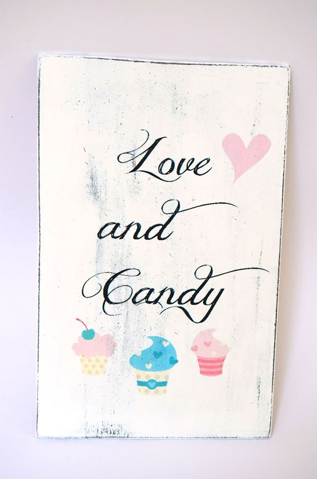 Love and Candy Board - Wedding - DIY project - Paper transfer - Distressed