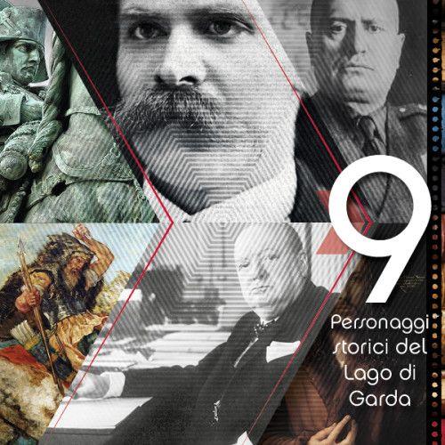 Ancora Numeri per GardaConcierge che questa volta vi propone 9 personaggi popolari della storia legati al Lago di Garda @gardaconcierge