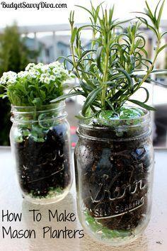17 Best ideas about Mason Jar Planter on Pinterest | Mason