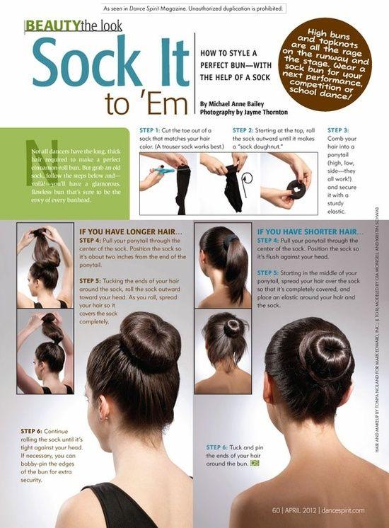 a perfect short hair bun - love it!