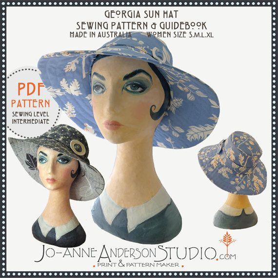 Georgia Sun Hat PDF sewing pattern & by JoanneAndersonStudio