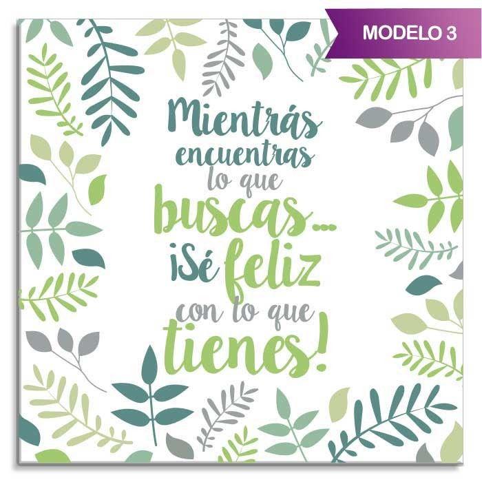 """Azulejo cuadrado """"Frases optimistas"""" - Detalle modelo 2"""