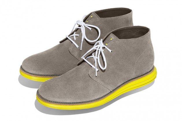 ColeHaan LunarGrandChukka-yellow: Cole Haan, Pink Yellow, Chukka Grey, Style, Pany Lunargrand, Grey Yellow, Lunargrand Chukka, Chukka Yellow, Colehaan